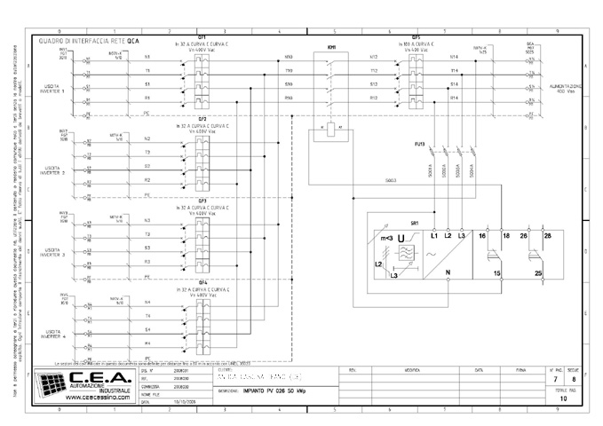 Schema Elettrico Quadro : C e a progettazione schemi elettrici per quadri di